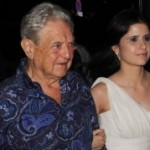 George Soros with Adriana Ferreyr