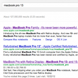 "Google Search ""Macbook Pro 13"" screenshot"