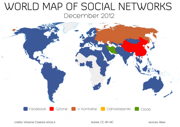 World Map of Social Networks: Vincos Blog