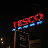 Credit: Tesco, Bromley-by-Bow, at night, by LoopZilla
