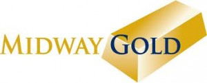 Midway Gold Corp (USA) (NYSEAMEX:MDW)