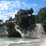 Credit: Panorama of Cathedral Cove - Seakayaking from Hahei, New Zealand by Takver