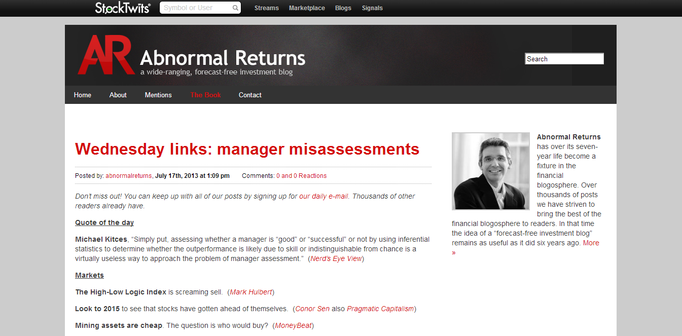 Abnormal Returns