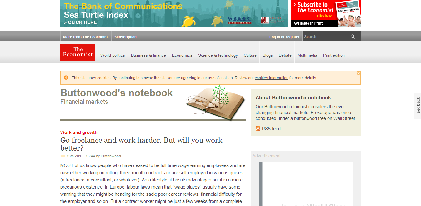 Buttonwood's notebook (The Economist)