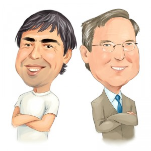 Larry Page and Eric Schmidt, Google Founders