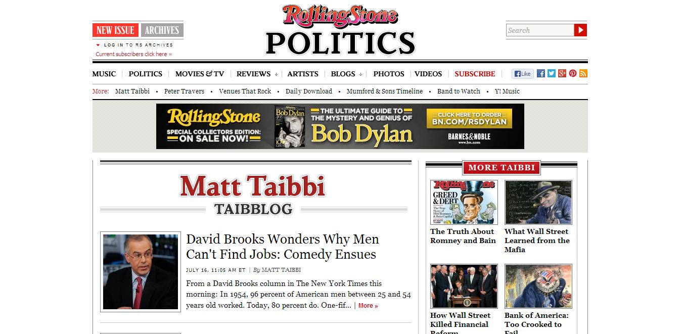 Matt Taibbi (Rolling Stone)
