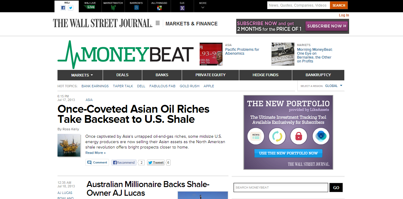 MoneyBeat (Wall Street Journal)