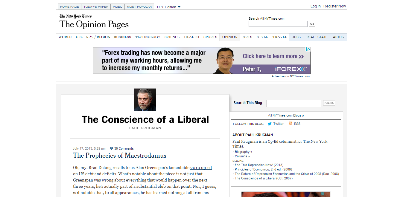 The Conscience of a Liberal (Paul Krugman)