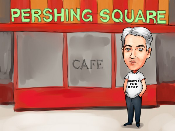Bill Ackman in front of Perishi
