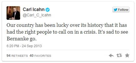 Icahn tweet 1