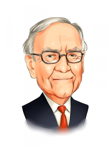 Warren Buffett portrait