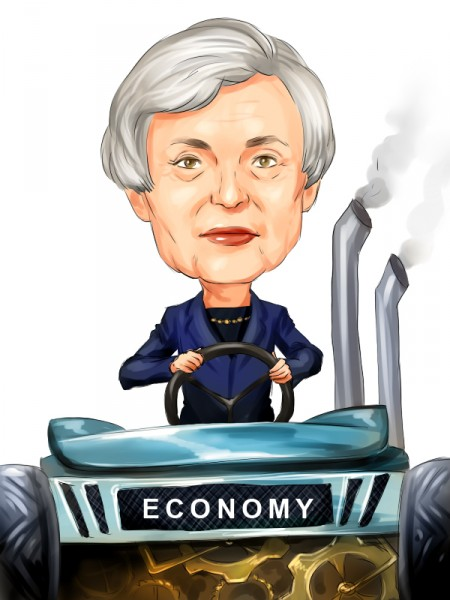 Jan Yellen driving economy