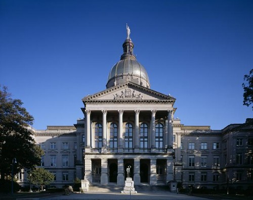 Georgia Capitol Building in Atlanta, Georgia built 1885-1889.