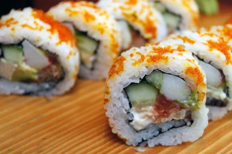 Japan sushi eating