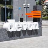 Devon Energy Corp (NYSE:DVN), Logo, Headquarters, Buliding, Sign, Symbol, Oil, Gas, Fuel