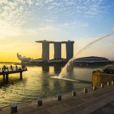 asia, merlion, landmark, lion, travel, business, fountain, park, river, symbol, tourist, famous, outdoors, water,