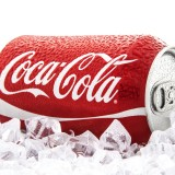 The Coca-Cola Co (NYSE:KO), Can, Ice, Isolated, popualr dring, brand, Sign, Symbol, Name