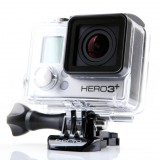 GoPro Inc (NASDAQ:GPRO), Action camera, Hero 3 plus, Isolated, HD, Black edition