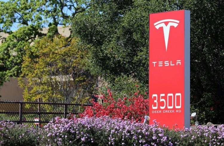 Tesla Motors Inc (NASDAQ:TSLA), Sign, logo, brand, stock, automaker, corporation