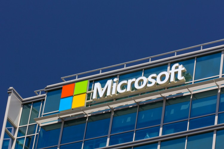Microsoft Corporation (NASDAQ:MSFT), Logo, Sign, Building, Symbol, Microsoft corporate building