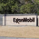 Exxon Mobil Corporation (NYSE:XOM), Sign, headquarters, Logo, Symbol, Building, Gas, Oil