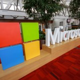 Microsoft Corporation (NASDAQ:MSFT), sign, building, logo, congress, symbol