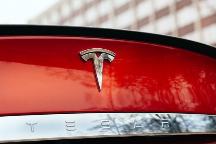 Tesla Motors Inc (NASDAQ:TSLA), Logo on a Car, Sign, Brand, signage, electric car,