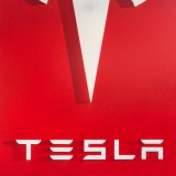 Tesla Motors Inc (NASDAQ:TSLA), Logo Isolated, Sign, Symbol, Brand, Red, Automotive