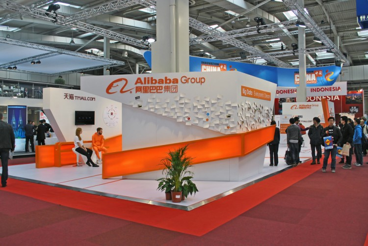 Alibaba Group Holding Ltd (NYSE:BABA), Booth of Alibaba Group, IT tradew show, website, group, chinese