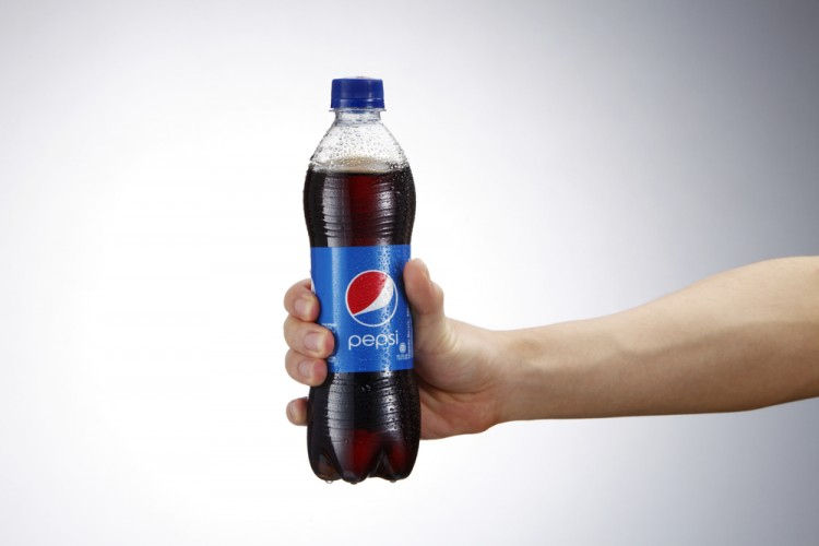 PepsiCo, Inc. (NYSE: PEP), Bottle, Pepsi, Hand holding, Isolated, Drink, Logo