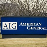American International Group Inc (NYSE: AIG), Sign, American general, building, logo