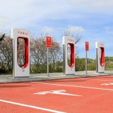 Tesla Motors Inc (NASDAQ:TSLA), Supercharger station, Battery, Automotive,
