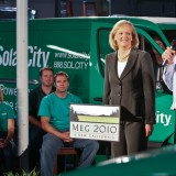 SolarCity Corp (NASDAQ:SCTY), Sign, Logo, Speech, Meg Whitman, Solar