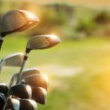 golf, club, background, day, photo, summer, blur, driver, green, field, set, outdoor, sunlight, many, tool, iron, cap, copyspace, luxury, assortment, equipment, modern, sport