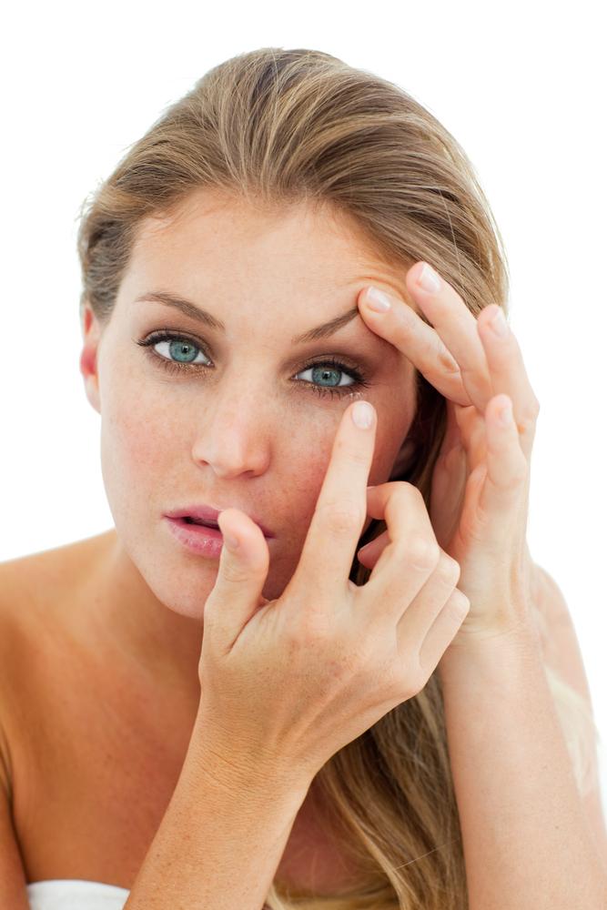 Valeant VRX  contact lenses women finger eye care vision medical