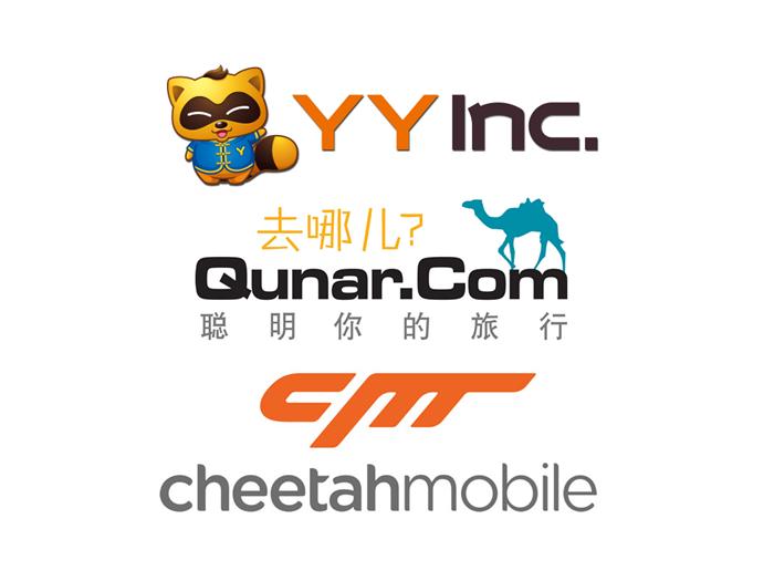 YY Inc (YY), NASDAQ:YY, Qunar Cayman Islands Ltd (QUNR), NASDAQ:QUNR, Cheetah Mobile Inc (CMCM), NYSE:CMCM,