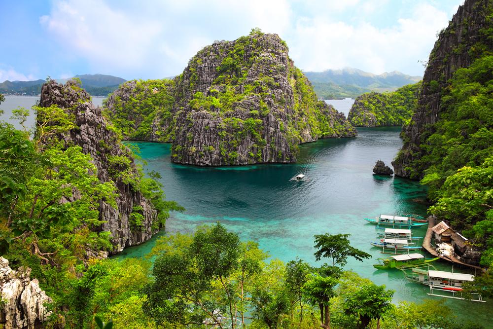 landscape of Coron, Busuanga island, Palawan province Philippines