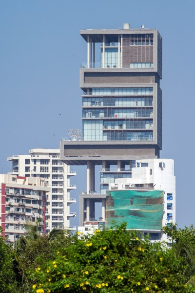 antilia, ambani, mumbai, india, apartment, nobody, expensive, travel, landmark, culture, bombay, bright, wealth, palace, luxury, realty, building, asia, elegant, historic,