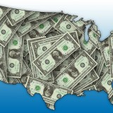 money, u.s, map, cash