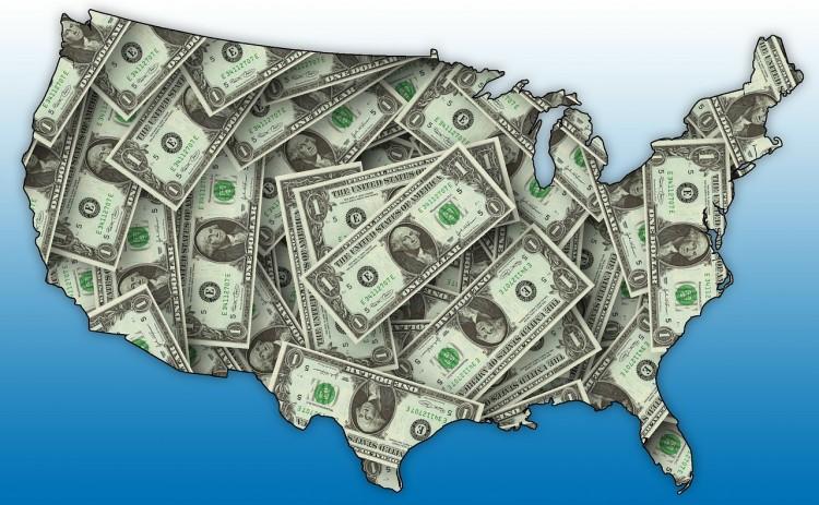 money, u.s, map, cash