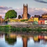 ireland, limerick, shannon, river, irish, landmark, hdr, famous, tower, flag, tourist, king, tomb, medieval, historical, stone, abbey, ruins, eire, tombstone, rock, past, culture,
