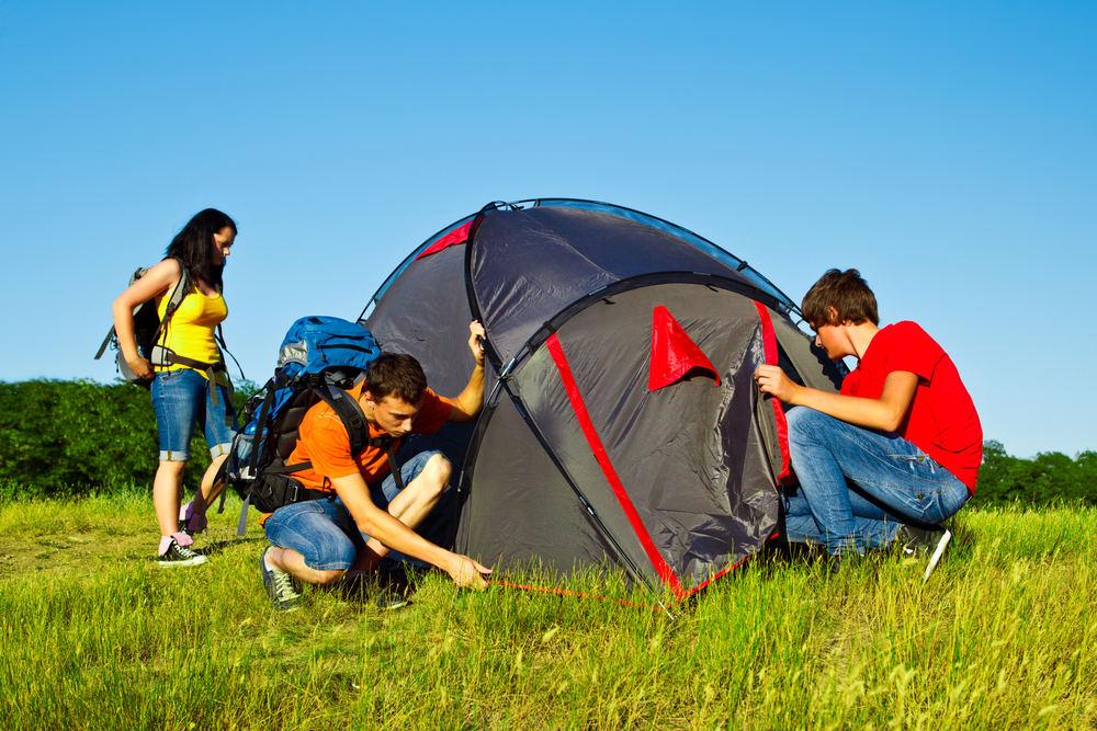 Survival camp for adults