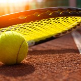 tennis, ball, clay, metaphors, court, the, individual, yellow, line, competitive, fitness, close-up, and, of, focus, selective, at, edge, competition, sports, single, sport