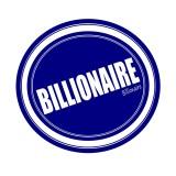 billionaire, billion, stamp, sign, logo, money, symbol