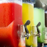 slush, ice, drink, cream, fruit, closeup, italian, granita, cold, icy, green, dessert, sweet, red, beverage, yellow, flavor, cup, summer, straw, homemade, refreshing, colored,