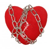 pain, feelings, isolated, divorce, staples, white, passion, red, concept, crack, break, unity, symbol, fix, grief, chained