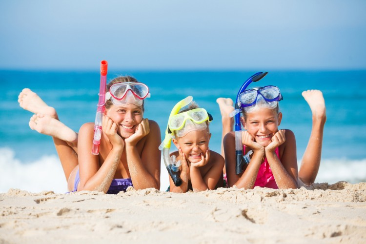 beach, closeup, goggles, leisure, children, fun, activity, tropical, seaside, travel, recreational, boy, diving, sand, happiness, sister, active, summer, kids, details, people, sun,11 Best Countries for Expats To Raise Children