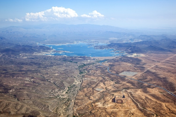 view, aerial, hazy, shore, fun, dew point, arizona, mountains, swimming, sunny, cliffs, marina, islands, summer, southwest, phoenix, hills, roads, lake pleasant, lake, 11 Deadliest Lakes in the United States