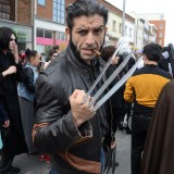 clothing, wolverine, fiction, eventful, cosplay, clothes, hero, london, male, character, event, weapon, fi, editorial, stratford, entertaining, roleplay, masquerade,