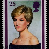 princess, diana, stamp, di, commemorative, shipping, letter, old, used, macro, historic, cancelled, collection, england, english, paper, british, canceled, hobby, vintage,